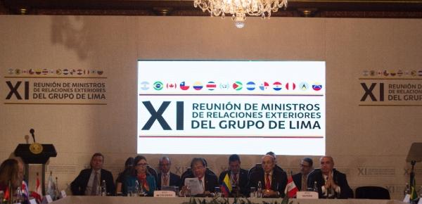 El Grupo de Lima tiene la responsabilidad de actuar con solidaridad ante el sufrimiento que un régimen ilegítimo como el de Nicolás Maduro ha impuesto a millones de venezolanos: Canciller Carlos HolmesTrujillo